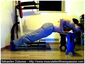 Les pompes coudes au corps, Sébastien Dubusse, blog musculationfitnesspassion
