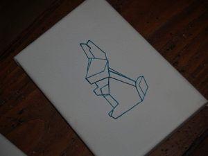 Origami brodé