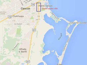 Le grand supermarché Commercial Mexicana situé à quelques mètres de notre hôtel / Plans de Cancun