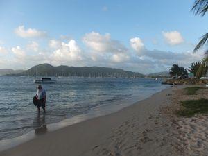 Sainte Anne et la plage de Caritan
