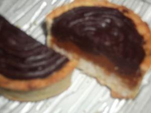 Tarte chocolat coco-praliné