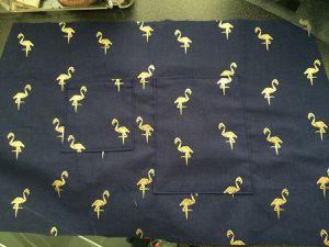1)c) la couture des poches sur la doublure