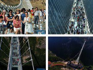 Chine: le pont en verre le plus long du monde s'ouvre au public