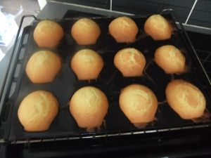 madeleines dans le moule coquille