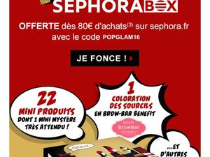Wonder Box Noël Sephora décembre 2016