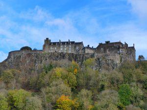 Stirling castle : extérieur et cour avant