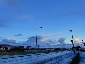 Le beau ciel bleu de Tórshavn, à croire que ces îles nous narguent...
