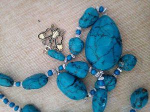 colliers en porcelaine froide(longeuer 60 cm) tous les détails faits a la main