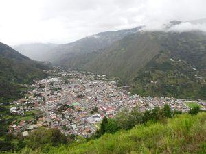 Vues de Baños depuis la Cruz Bellavista et vue de la croix depuis le centre ville