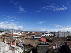 Vues depuis le toit de l'hostal Tiana
