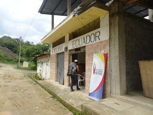 Passage de la frontière Équateur/Pérou.Dommage on arrive un peu tard pour le poste de contrôle côté péruvien !