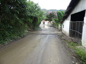 Les pluies importantes des derniers jours ont aussi fait des ravages dans le coin !