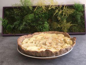 Tarte aux pommes avec pâte maison