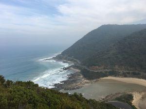 Great Ocean Road vu de Teddy's lookout à Lorne