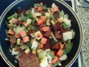 Poêlée de Tofu fumé aux petits légumes