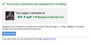 Lier une page Google+