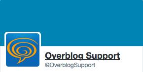 Le support d'Overblog est désormais sur Twitter !