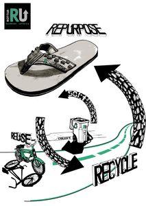 Du pneu de vélo à la Sandale !