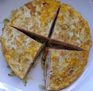 Mille-feuille d'omelette