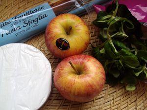 Tarte fine... Pommes &amp&#x3B; Camembert