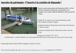La Seine, Mantes-la-Jolie et les Journées du Patrimoine..