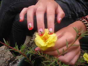 Nail Art Pommes