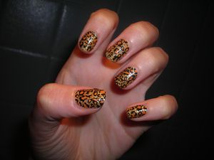Nail Patch Leopard