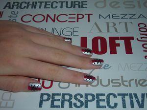 Nail Art Converse (ou Corset) n°2 !