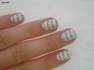 Nail Art Papier Journal