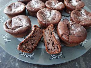 Muffins fondants chocolat banane