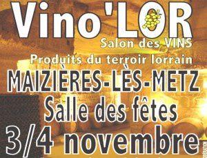 Maizières-les-Metz : 3ème salon des vins les 3 et 4 novembre 2012.