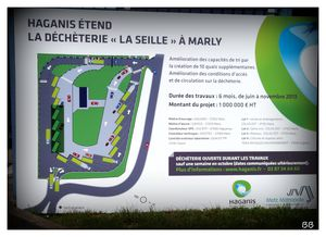 Marly Extension de la déchèterie