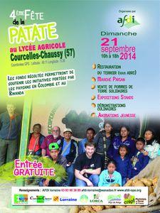 Courcelles-Chaussy  lycée agricole 4ème Fête de la patate le 21 septembre