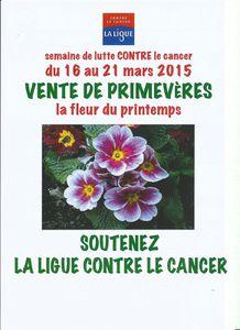 Semaine nationale de lutte contre le cancer  du 16 au 22 mars 2015