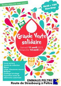 Emmaüs Peltre Grande Vente solidaire de printemps les 11 et 12 avril 2015