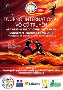 Metz Grand tournoi International d'arts martiaux les 9 et  10 mai
