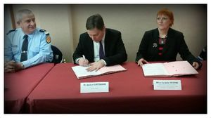 Peltre Signature de la convention participation citoyenne