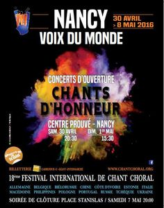 NANCY 18e Festival international de chant choral jusqu'au 8 mai 2016