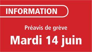 Préavis de grève sur le réseau LE MET'