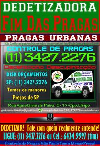 Dedetizadoras São Paulo-SP-11-3427.2276
