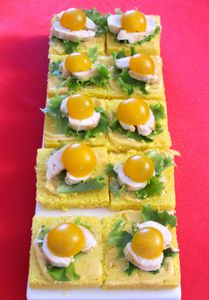 Toasts poulet curry