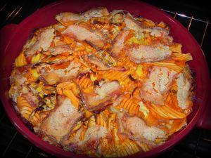gratin de potimarron et fenouil épicé au macis