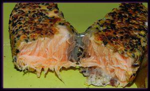 saumon en croûte de graines