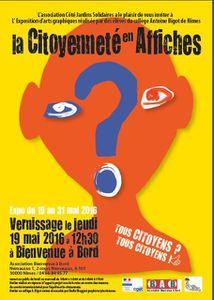 Exposition &quot&#x3B;La Citoyenneté en affiches&quot&#x3B; - du 19 au 31 mai 2016