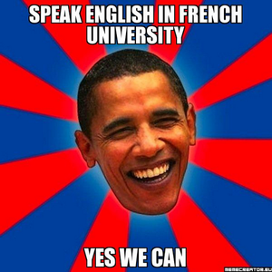 L'anglais dans les facs, yes we can!