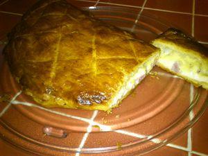 Soufflé jambon et fromage à raclette