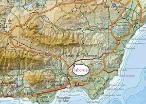 Le désert de Tabernas dans la province d'Alméria en Andalousie.