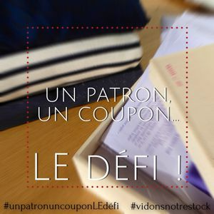 Un patron un coupon le défi : étape 1 OH MY GOD!!