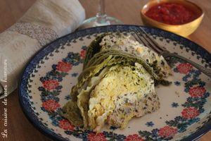 Ce que mange un hobbit: chou farci au poulet et olives
