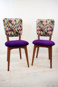 Deux chaises rétro &quot&#x3B;arlequin&quot&#x3B;
